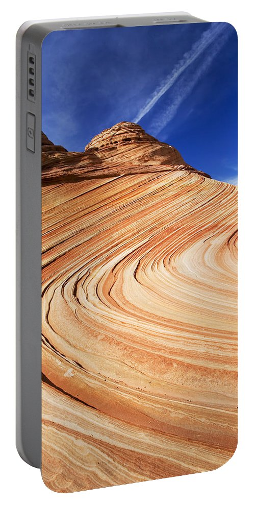The Wave Portable Battery Charger featuring the photograph Sandstone Slide by Mike Dawson