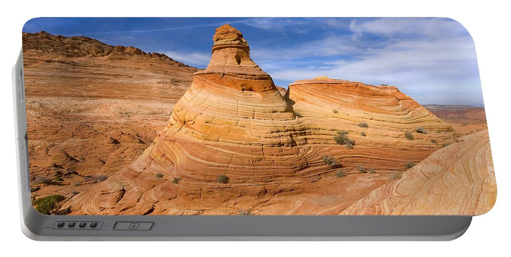 Tent Portable Battery Charger featuring the photograph Sandstone Tent Rock by Mike Dawson