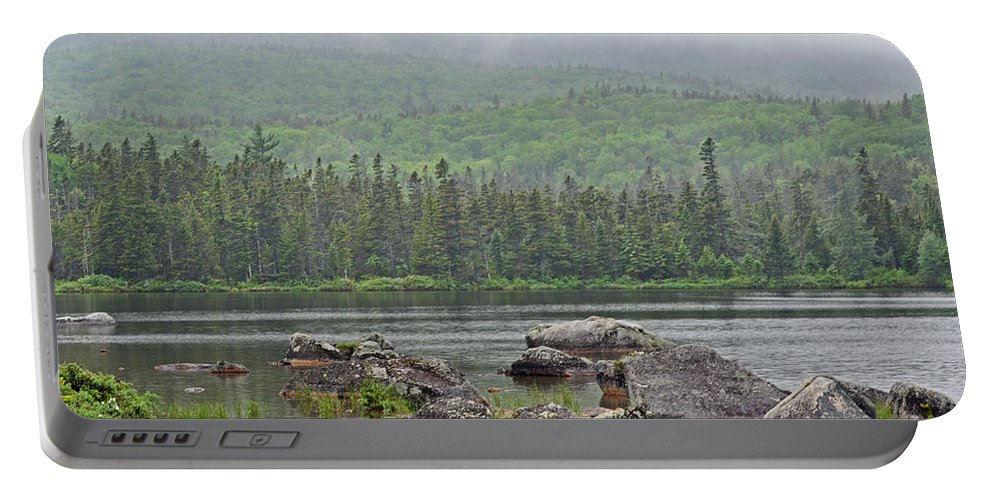 Sandy Stream Pond Portable Battery Charger featuring the photograph Sandy Stream Pond by Glenn Gordon