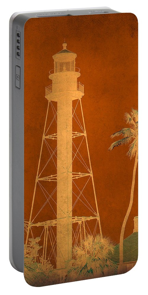 Sanibel Portable Battery Charger featuring the photograph Sanibel Island Lighthouse by Trish Tritz