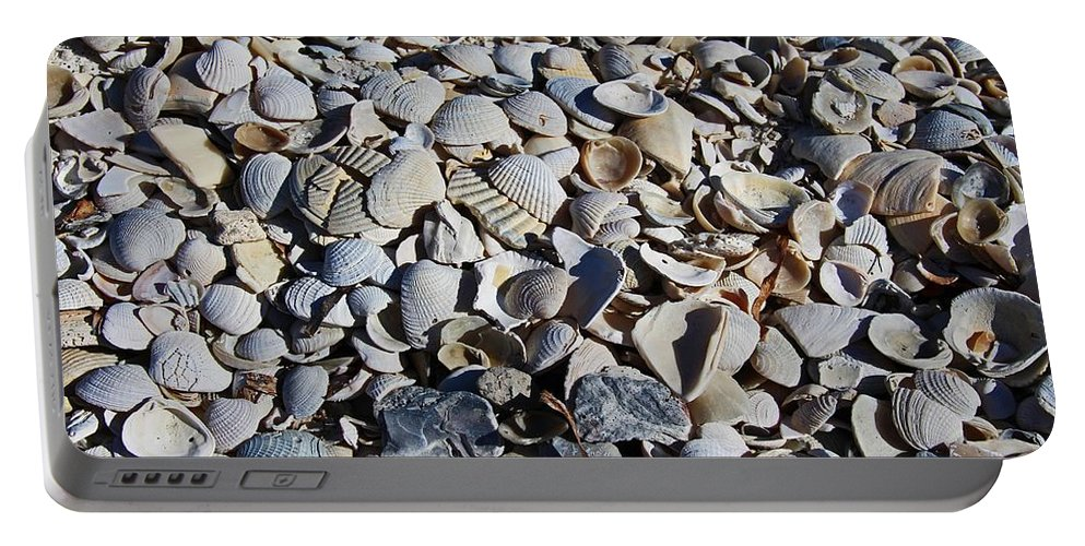Sanibel Island Portable Battery Charger featuring the photograph Sanibel Island Seashells I by Michiale Schneider