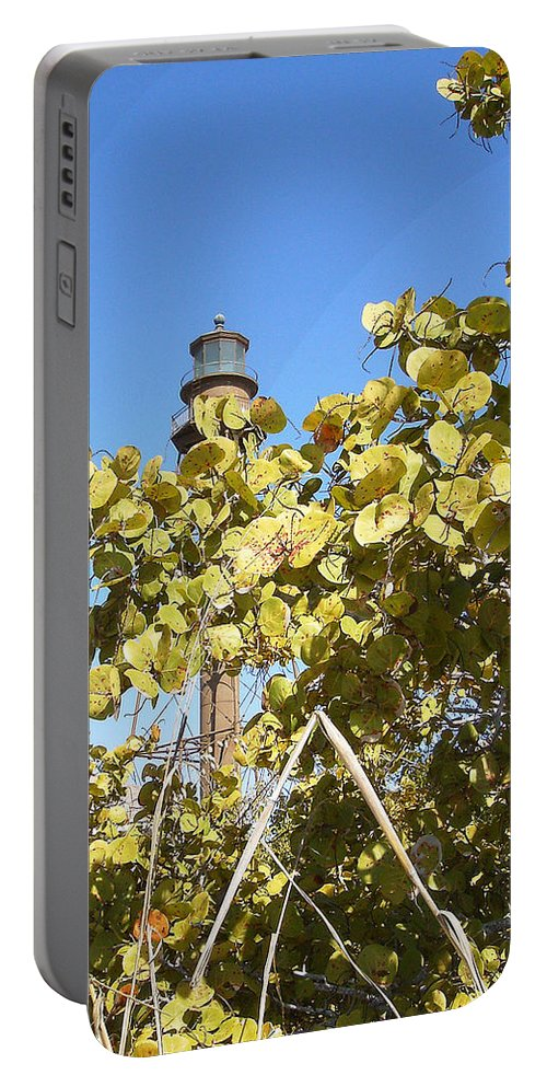 Florida Portable Battery Charger featuring the photograph Sanibel Lighthouse by Chris Andruskiewicz