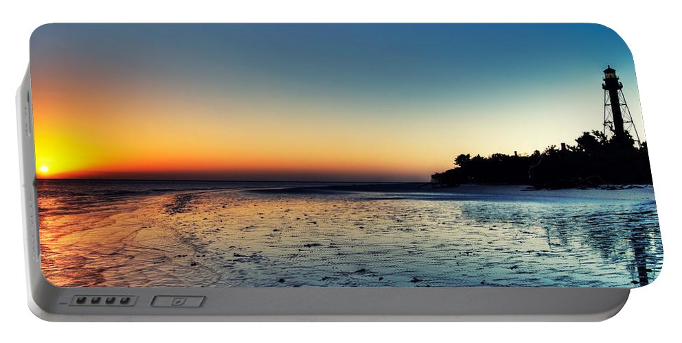 Lighthouse Portable Battery Charger featuring the photograph Sanibel Sunrise by Rich Leighton