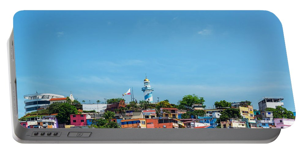 Guayaquil Portable Battery Charger featuring the photograph Santa Ana Hill by Jess Kraft