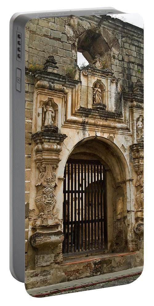 Santa Portable Battery Charger featuring the photograph Santa Clara Antigua Guatemala Ruins 2 by Douglas Barnett