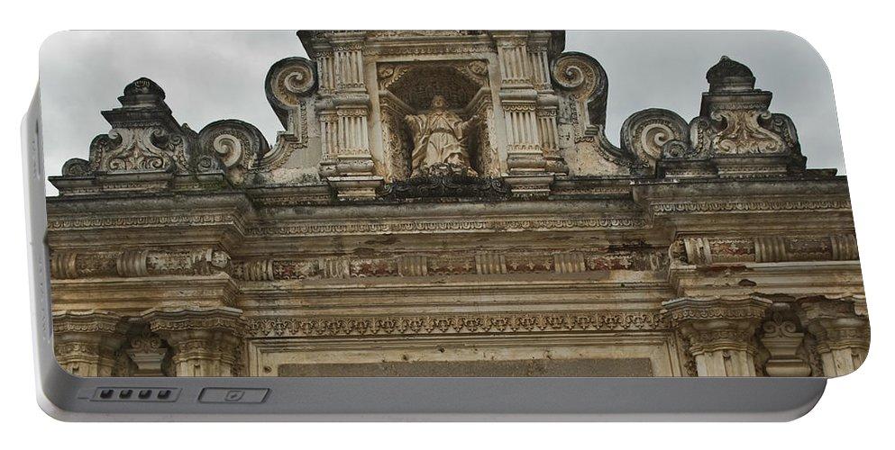 Santa Portable Battery Charger featuring the photograph Santa Clara Antigua Guatemala Ruins by Douglas Barnett