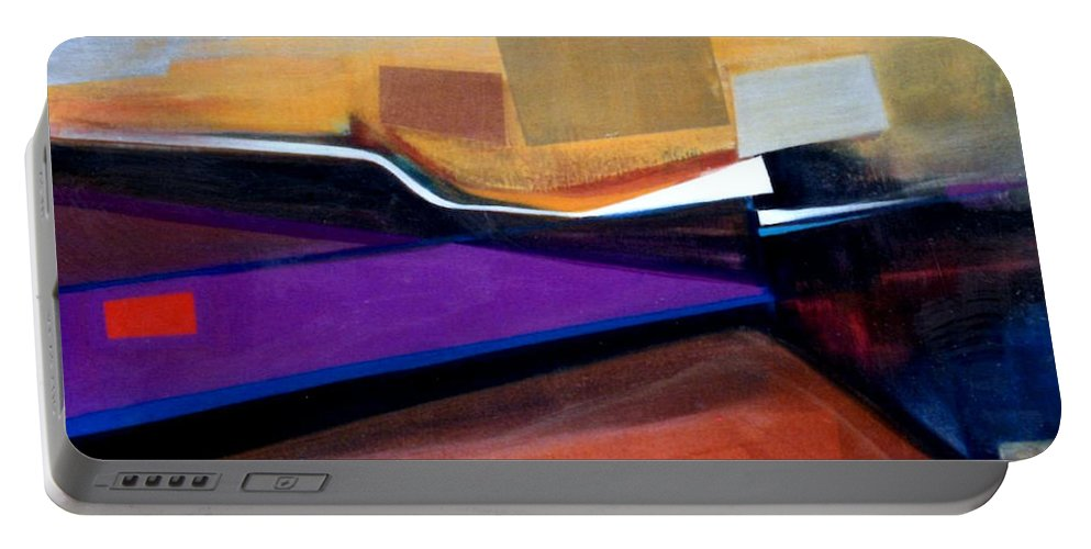 Abstract Portable Battery Charger featuring the painting Santa Fe 2 Let Loose by Marlene Burns