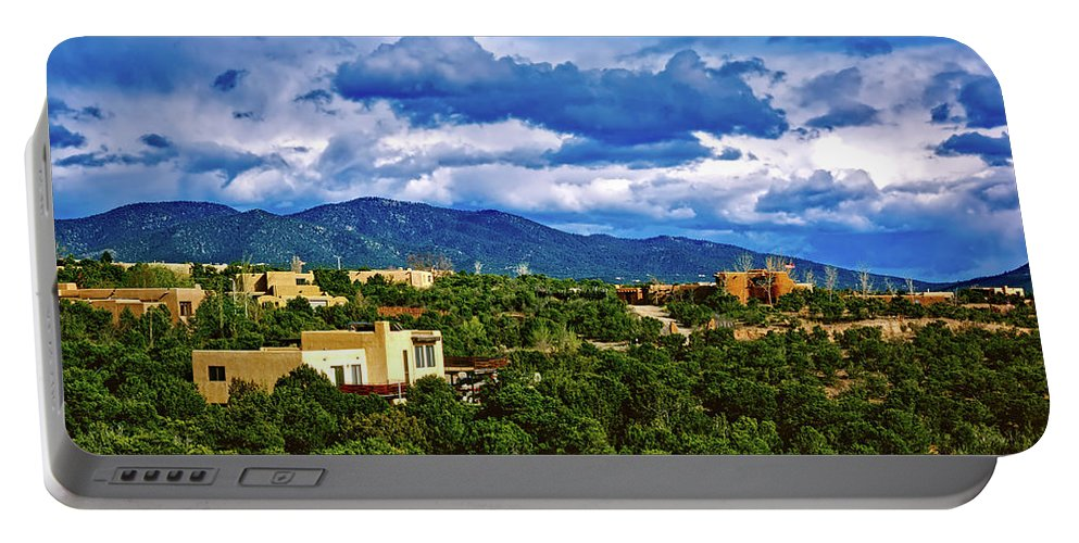 Santa Fe Portable Battery Charger featuring the photograph Santa Fe New Mexico by Mountain Dreams