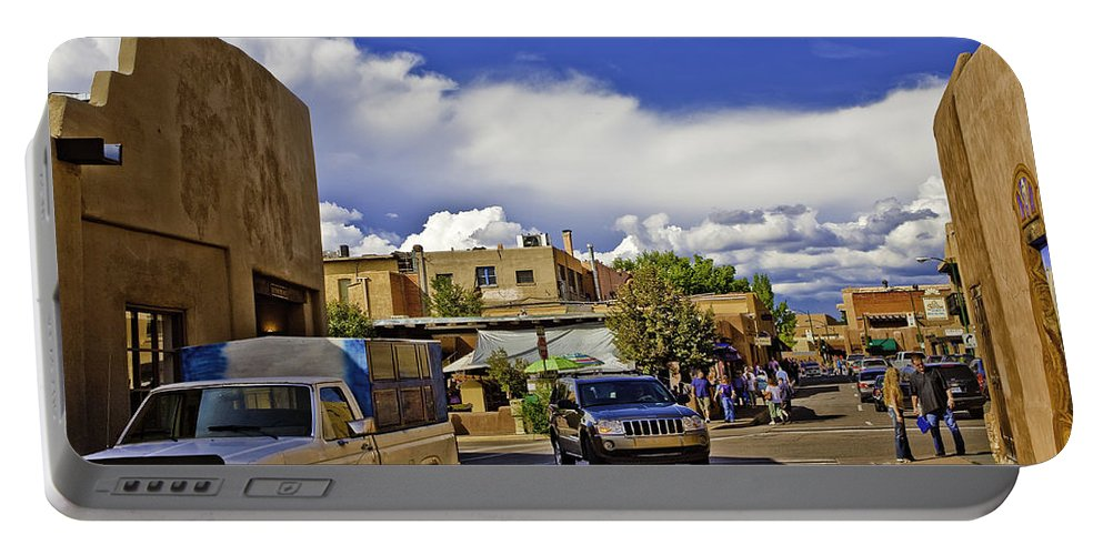 Santa Fe Portable Battery Charger featuring the photograph Santa Fe Plaza 2 by Madeline Ellis