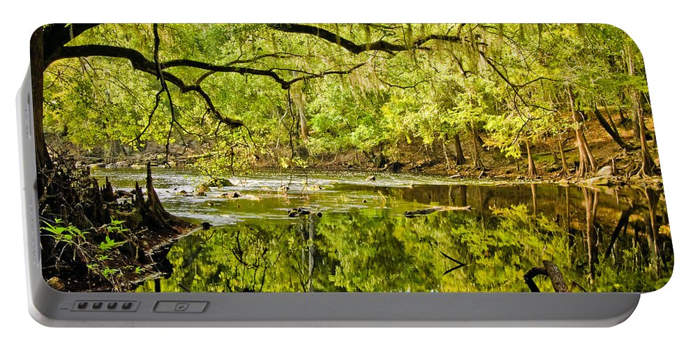 River Portable Battery Charger featuring the photograph Santa Fe River by Rich Leighton