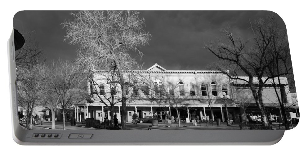 Santa Fe Portable Battery Charger featuring the photograph Santa Fe Town Square by Rob Hans