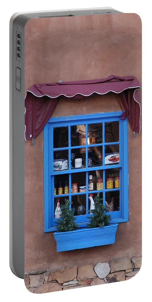 Architecture Portable Battery Charger featuring the photograph Santa Fe Window by Rob Hans