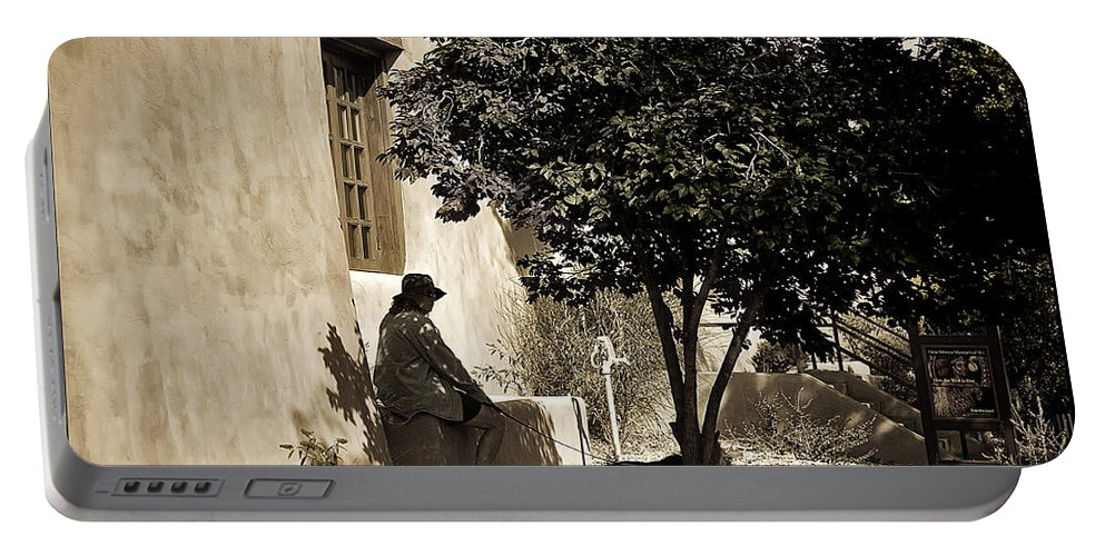 Santa Fe Portable Battery Charger featuring the photograph Santa Fe Woman by Madeline Ellis