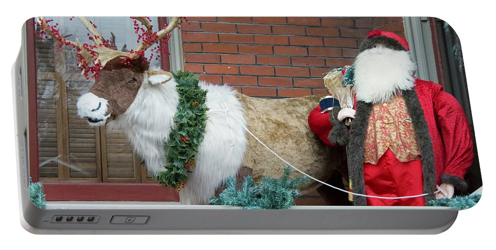 Santa Portable Battery Charger featuring the photograph Santa Is Watching You by Carolyn Fox