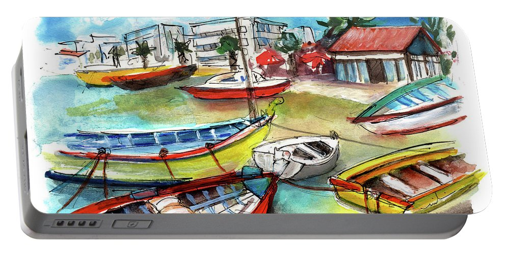Travel Portable Battery Charger featuring the painting Santa Luzia 04 by Miki De Goodaboom