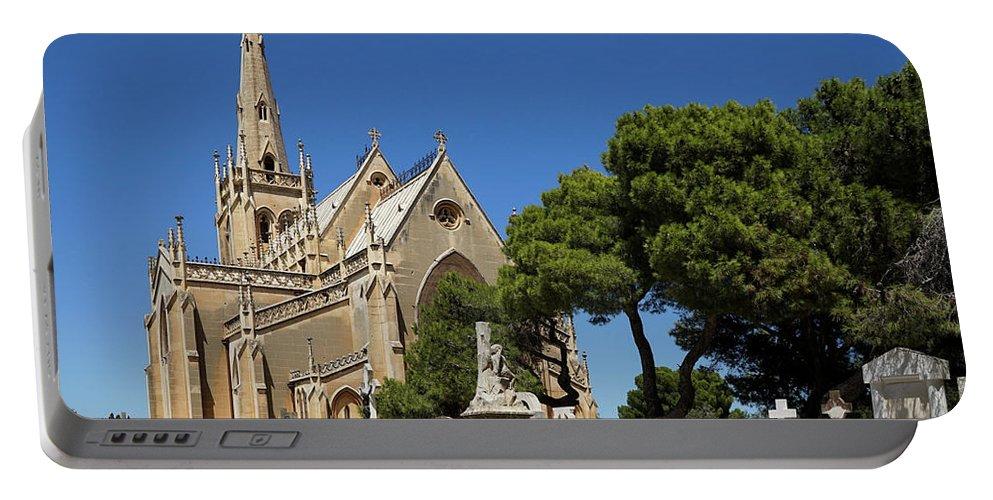 Kira Yan Portable Battery Charger featuring the photograph Santa Marija Addolorata Chapel by Kira Yan