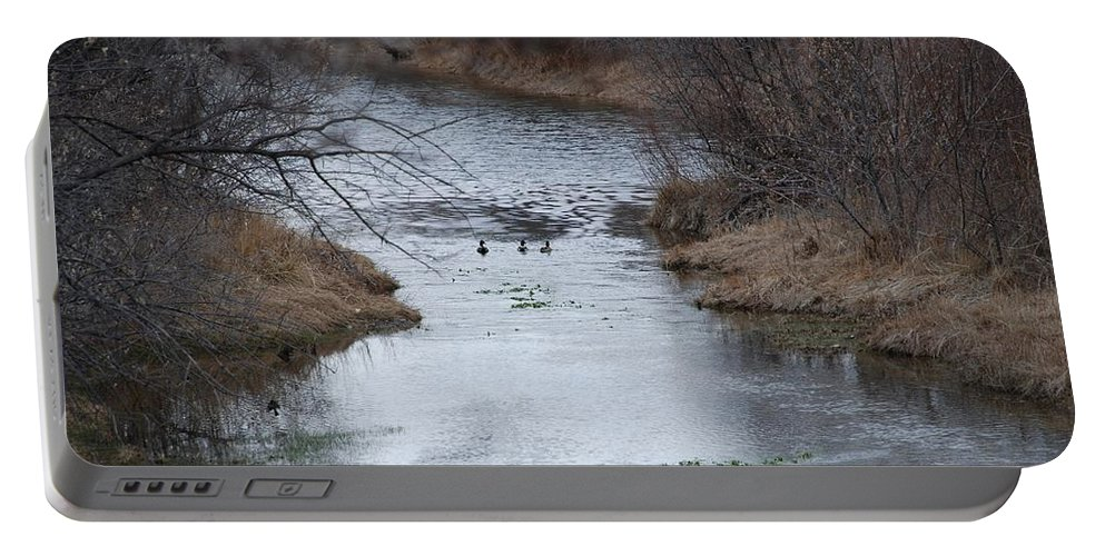 Birds Portable Battery Charger featuring the photograph Sante Fe River by Rob Hans