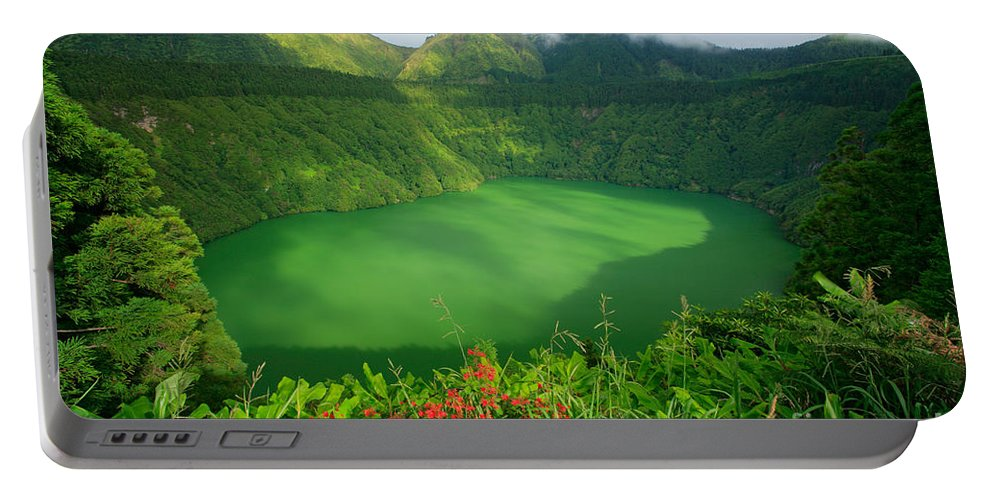 Azores Portable Battery Charger featuring the photograph Santiago Lake by Gaspar Avila