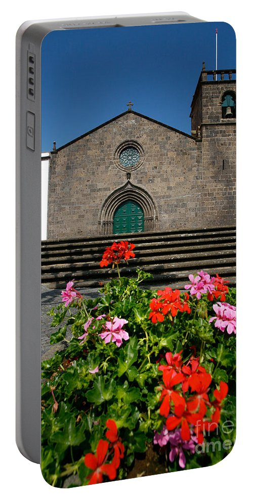 Azoren Portable Battery Charger featuring the photograph Sao Miguel Arcanjo Church by Gaspar Avila