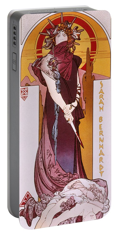 1898 Portable Battery Charger featuring the photograph Sarah Bernhardt by Granger