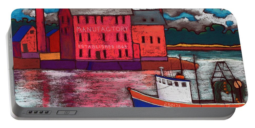 Landmark Portable Battery Charger featuring the painting Sarah by David Hinds