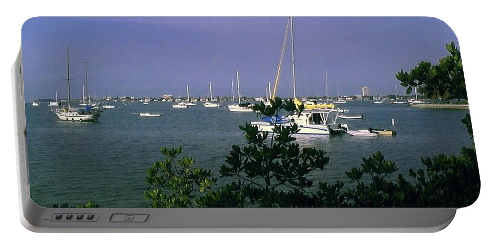 Florida Portable Battery Charger featuring the photograph Sarasota Bay Harbor by Gary Wonning