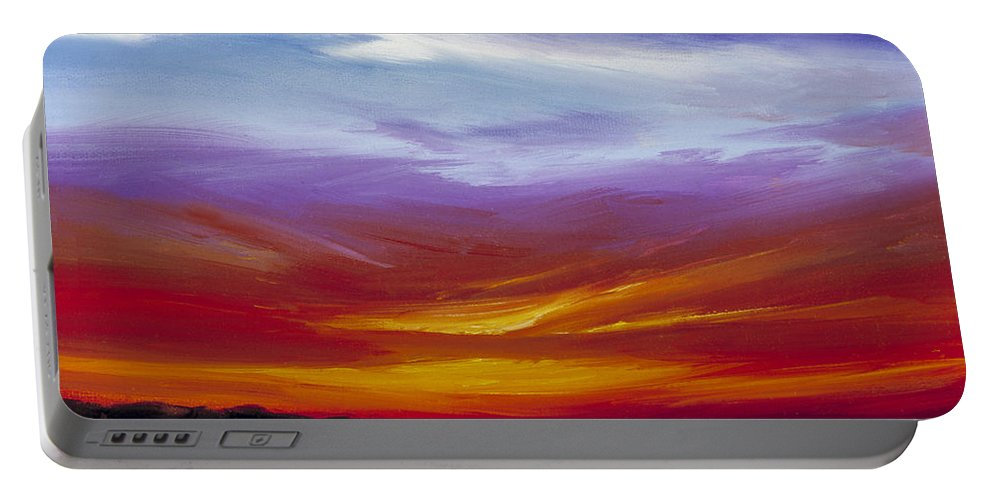 Skyscape Portable Battery Charger featuring the painting Sarasota Bay I by James Christopher Hill