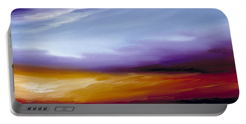 Skyscape Portable Battery Charger featuring the painting Sarasota Bay II by James Christopher Hill