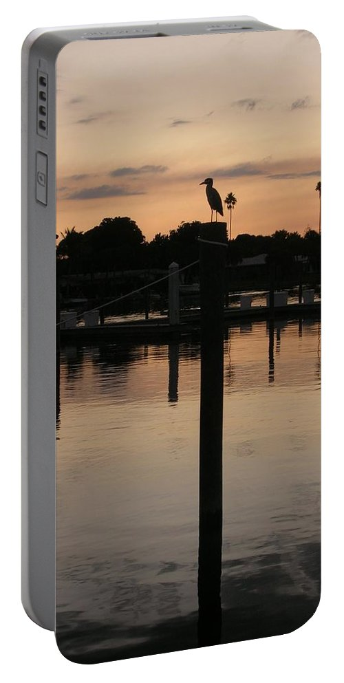 Sarsota Sunset1 Portable Battery Charger featuring the photograph Sarasota Sunset1 by Emmy Vickers