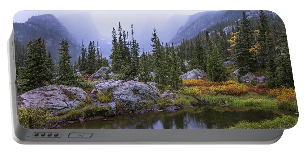 Saturated Forest Portable Battery Charger featuring the photograph Saturated Forest by Chad Dutson