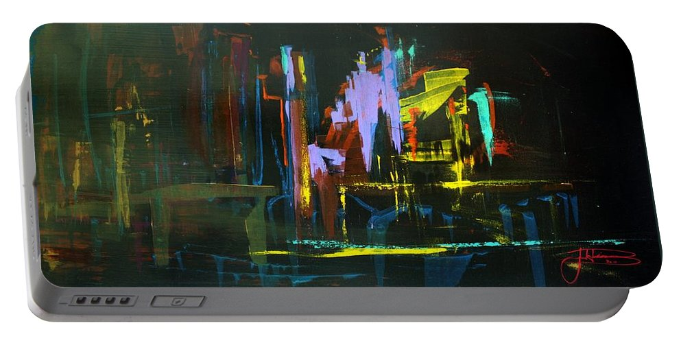 Saturday Night Portable Battery Charger featuring the painting Saturday Night by Jack Diamond