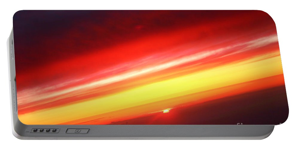 Sunset Portable Battery Charger featuring the photograph Saturn On Earth Sunset by James BO Insogna