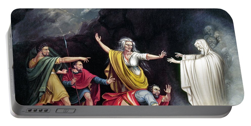 1828 Portable Battery Charger featuring the photograph Saul & Witch Of Endor by Granger