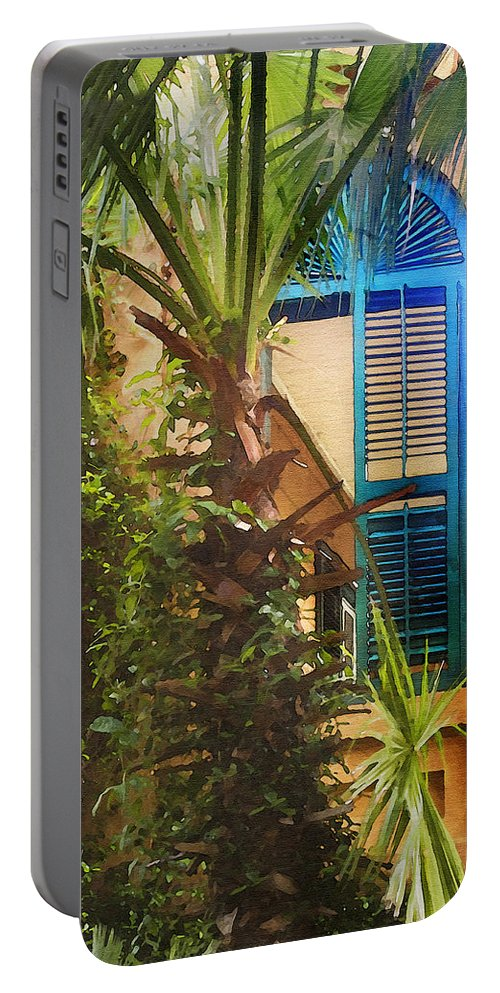 Architecture Portable Battery Charger featuring the photograph Savannah Window by Sharon Foster