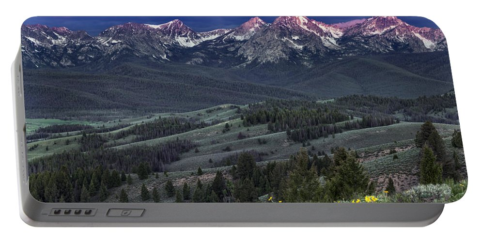 Beautiful Portable Battery Charger featuring the photograph Sawtooth Sunrise by Leland D Howard