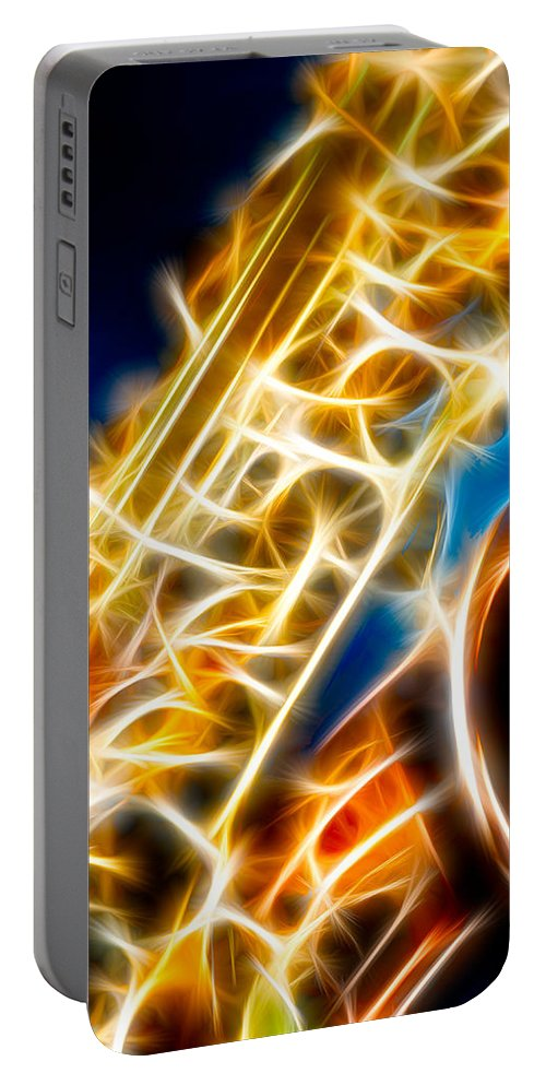 Canon Portable Battery Charger featuring the photograph Saxophone 2 by Hakon Soreide