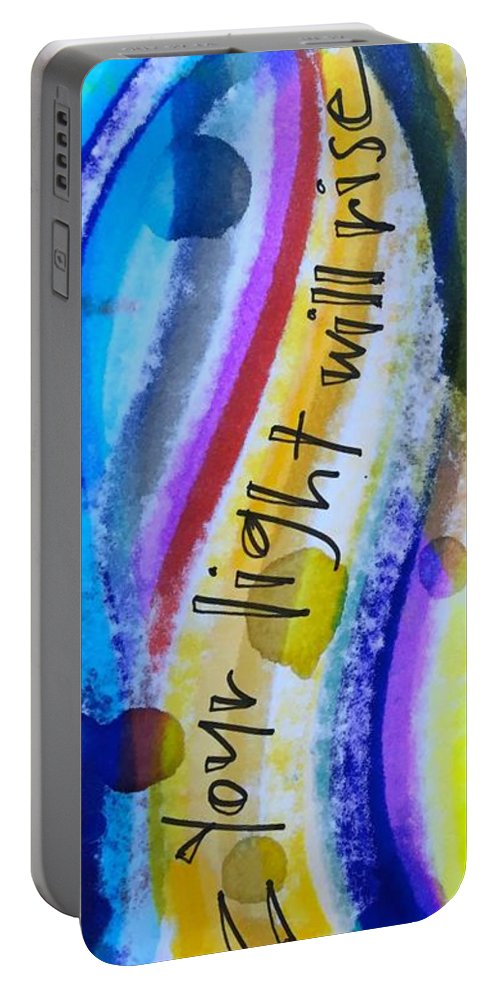 Yes Portable Battery Charger featuring the painting Saying Yes by Vonda Drees