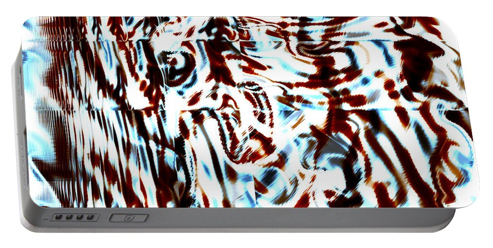 Abstract Portable Battery Charger featuring the digital art Scabba by Blind Ape Art