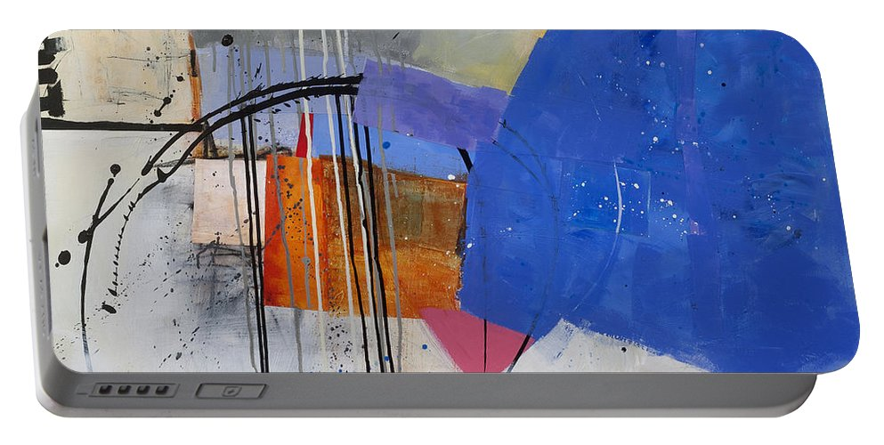 Abstract Art Portable Battery Charger featuring the painting Scaled Up 1 by Jane Davies