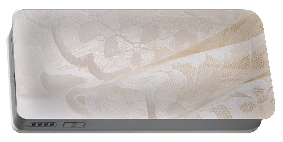 Lace Portable Battery Charger featuring the photograph Scalloped Lace by Sandra Foster