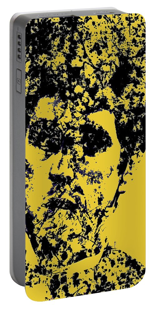 Scarface Portable Battery Charger featuring the mixed media Scarface 2e by Brian Reaves