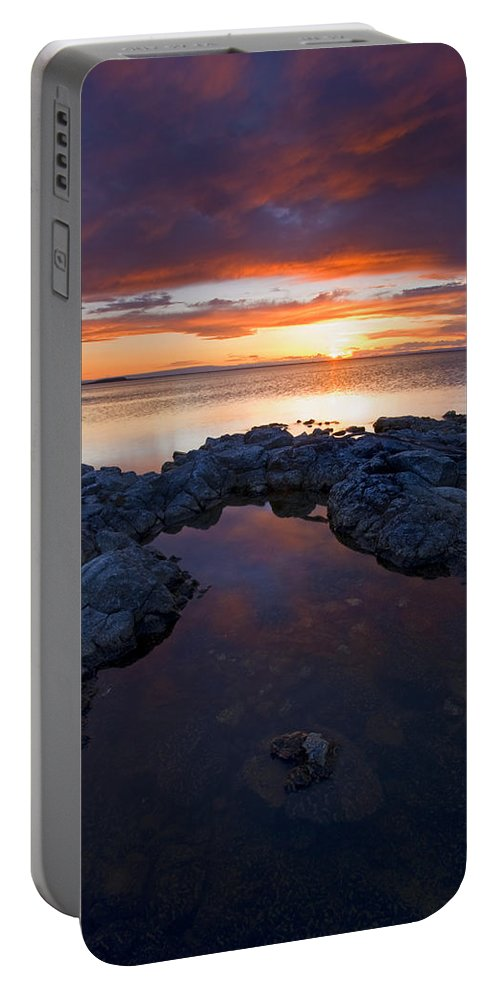 Potholes Portable Battery Charger featuring the photograph Scarlet Pools by Mike Dawson