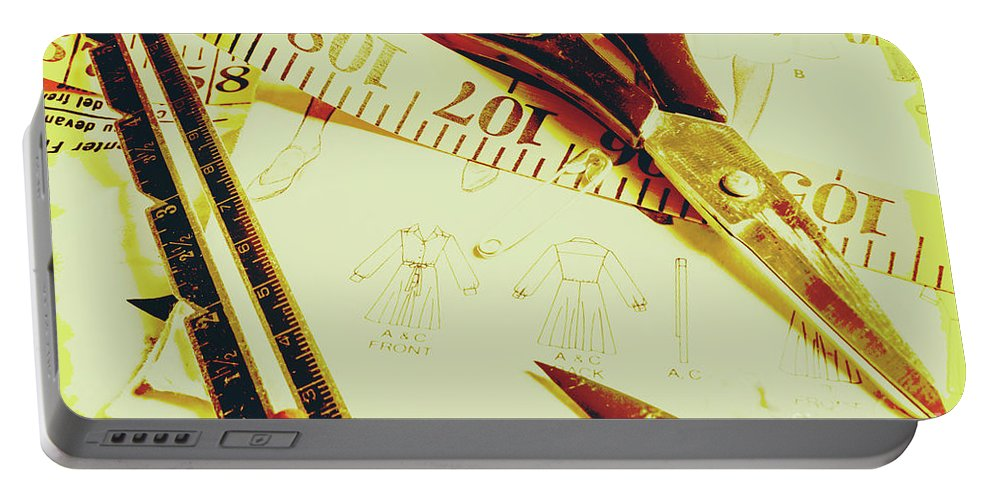 Dress Making Portable Battery Charger featuring the photograph Scenes From A Seamstress by Jorgo Photography - Wall Art Gallery