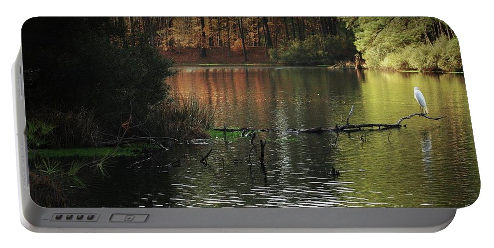 Nature Portable Battery Charger featuring the photograph Scenic Elder Lake by Kim Henderson