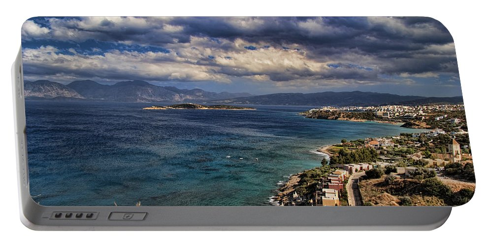 Crete Portable Battery Charger featuring the photograph Scenic View Of Eastern Crete by David Smith