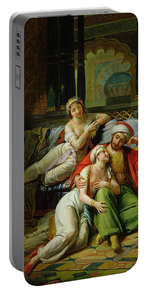 Scheherazade Portable Battery Charger featuring the painting Scheherazade by Paul Emile Detouche