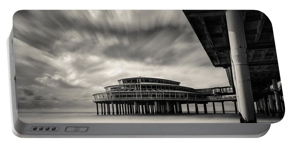 Scheveningen Pier Portable Battery Charger featuring the photograph Scheveningen Pier 1 by Dave Bowman