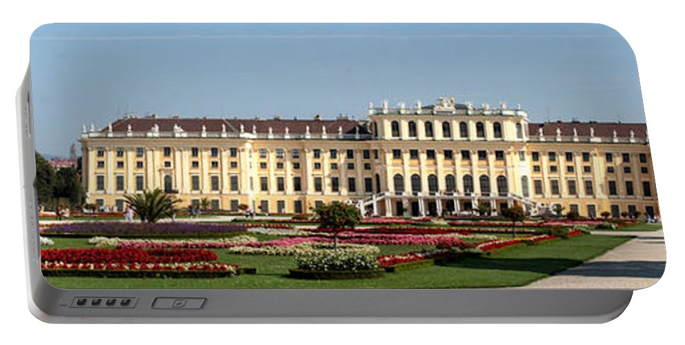 Schonbrunn Palace Hapsburg Vienna Austria Castle Garden Portable Battery Charger featuring the photograph Schonbrunn Palace And Gardens by Thomas Marchessault