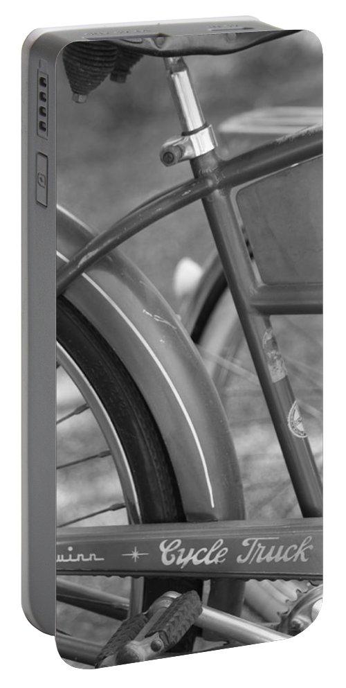 Schwinn Portable Battery Charger featuring the photograph Schwinn Cycle Truck by Lauri Novak