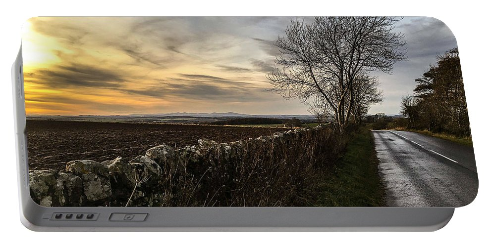 Landscape Portable Battery Charger featuring the photograph Scotland At Sunset by Jennifer Cairney